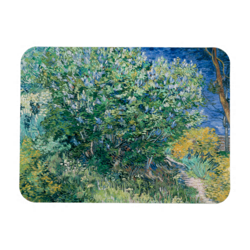 Lilac Bush Lilacs By Vincent Van Gogh Magnet Zazzle