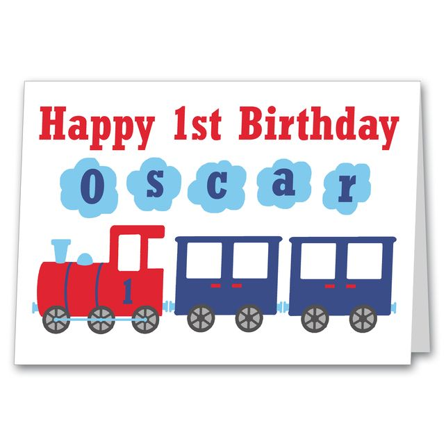 Boys personalised train birthday card 1st 2nd 3rd 4th 5th 6th any age personalised train birthday card 275 bookmarktalkfo Image collections