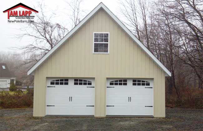 Residential Polebarn Building In Port Deposit Maryland Project Overview 2 9 W X 7 H Carriage Style Garage Doors With Glass 12 House Stuff Carri