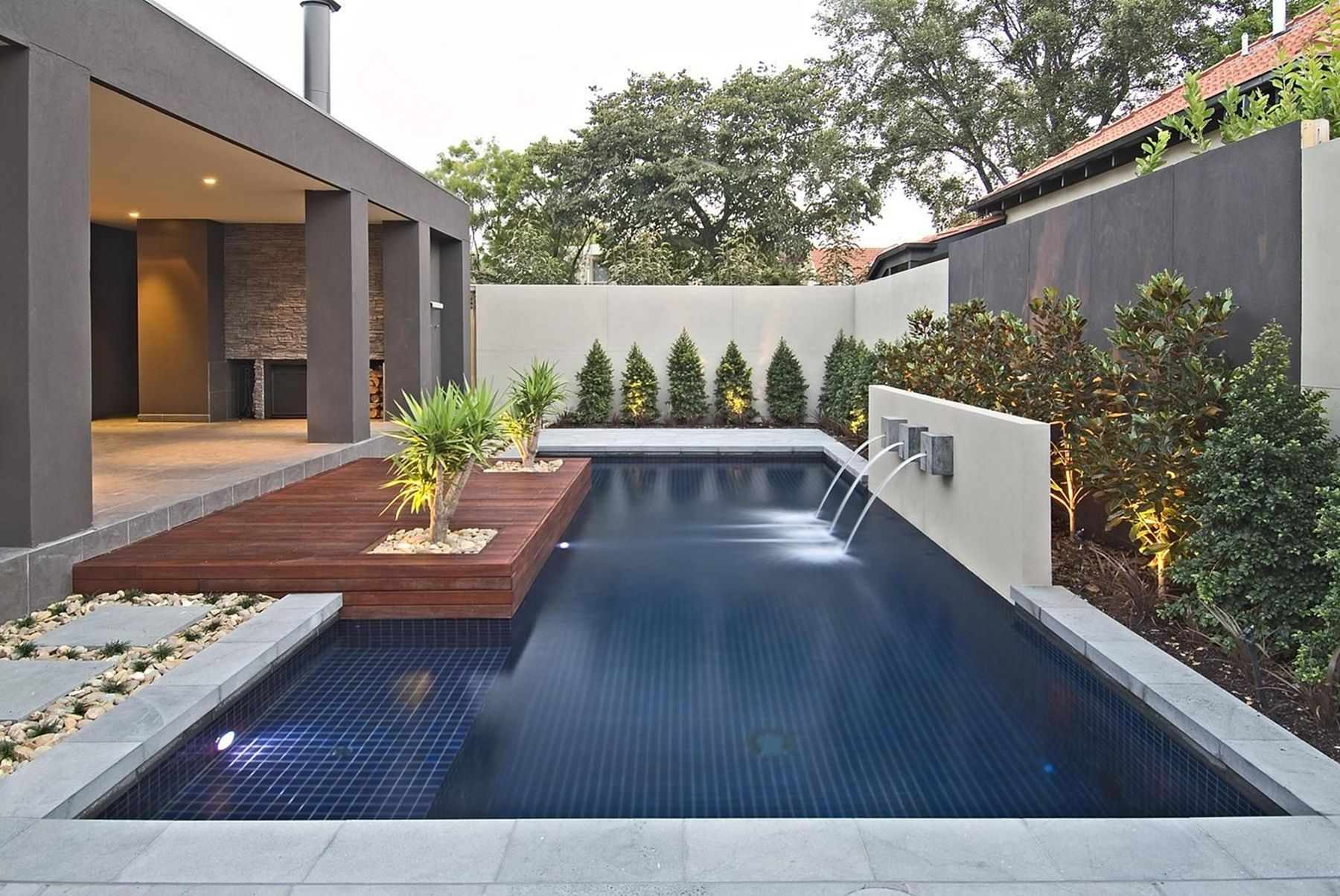 Pin On Home Outdoor Ideas Modern backyard ideas with pool