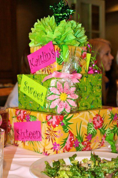 Gift Boxes As Centerpieces Centerpieces Party Goodies Tea Party