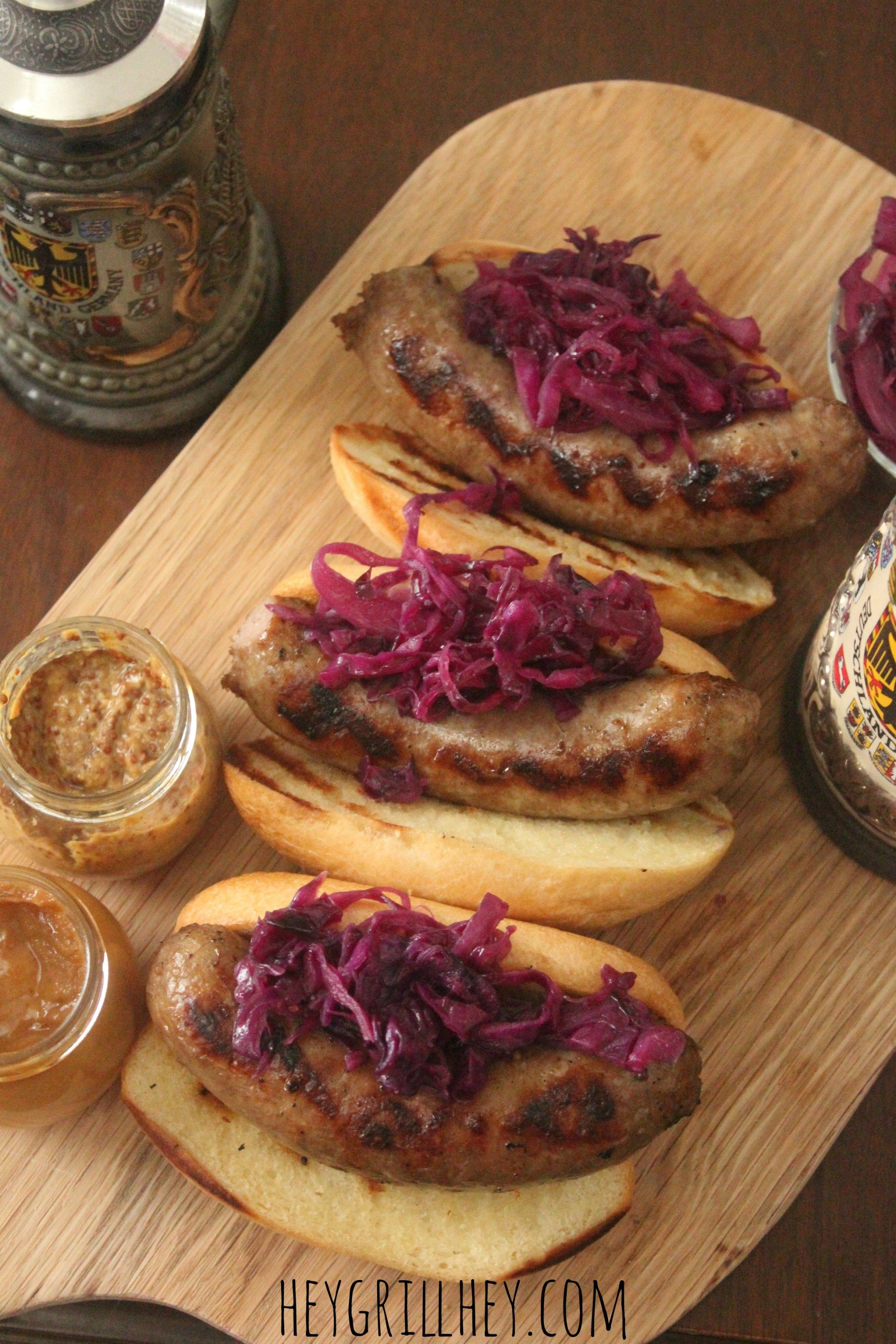 recipe: beer braised brats and cabbage [15]