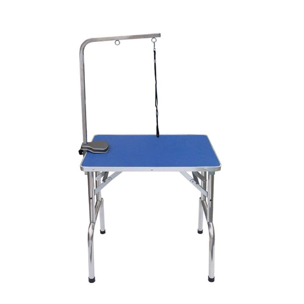 Ju Fu Pet Grooming Table Blue Pet Folding Table Portable Pet Dog