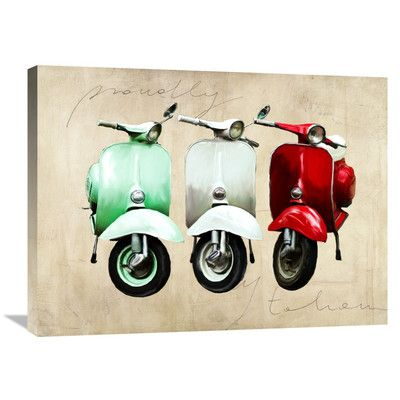 Global Gallery 'Proudly Italian' by Teo Rizzardi Painting Print on Wrapped Canvas Size: