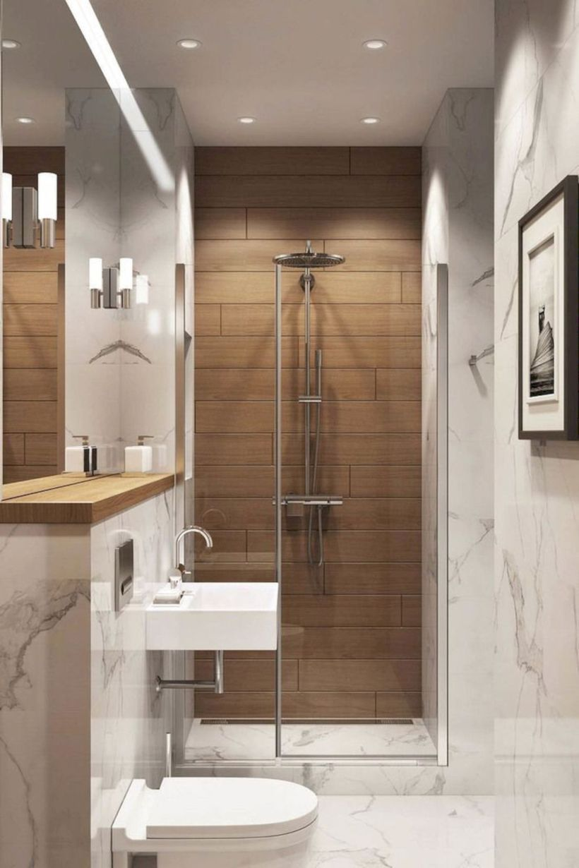 47 Affordable Bathroom Designs Ideas For Small Spaces Decoratrend Com Modern Small Bathrooms Small Bathroom Decor Small Bathroom