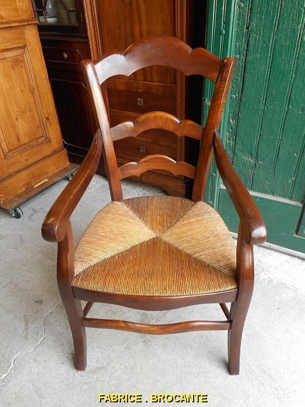 fauteuil paille louis philippe en noyer