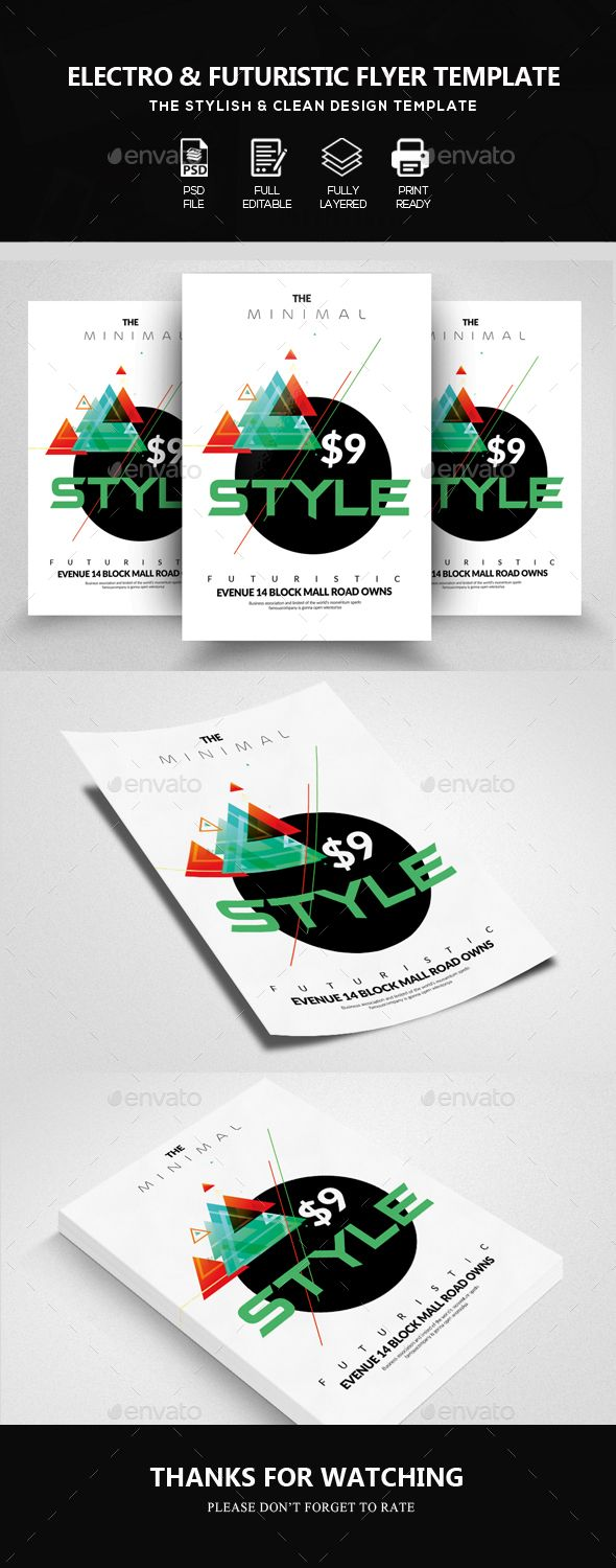 Electro Futuristic #Flyer - Clubs & Parties Events | Flyer | Pinterest