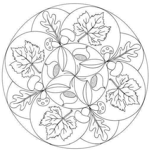 Pin By H Fehrer On Osz Autumn Mandala Coloring Pages Mandala Coloring Mandala