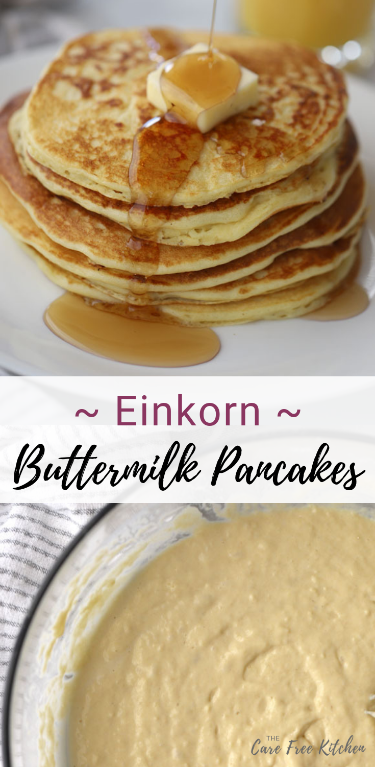 The Best Einkorn Flour Recipe These Einkorn Buttermilk Pancakes Are The Best Homemade Einkorn Panca Einkorn Pancake Recipe Buttermilk Pancakes Einkorn Recipes