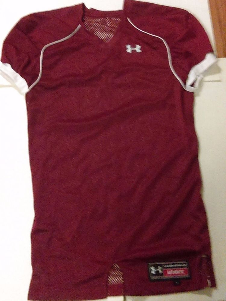 cb834e0d07 UNDER ARMOUR MENS FOOTBALL TRAINING PRACTICE JERSEY LARGE MAROON ...