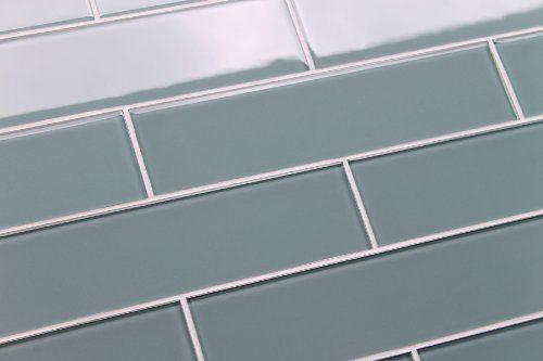 Color Sample Of Arctic 3x12 Blue Gray Gl Subway Tile For Kitchen Backsplash Or Bathroom From