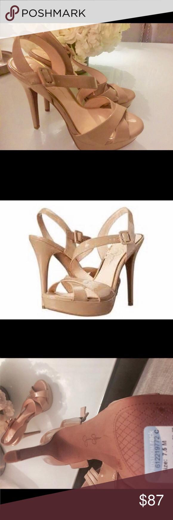 Jessica Simpson 'Beverlie'nude platform sandal 7.5 Brand new Jessica Simpson platform sandals size 7.5 patent nude Jessica Simpson Shoes Platforms