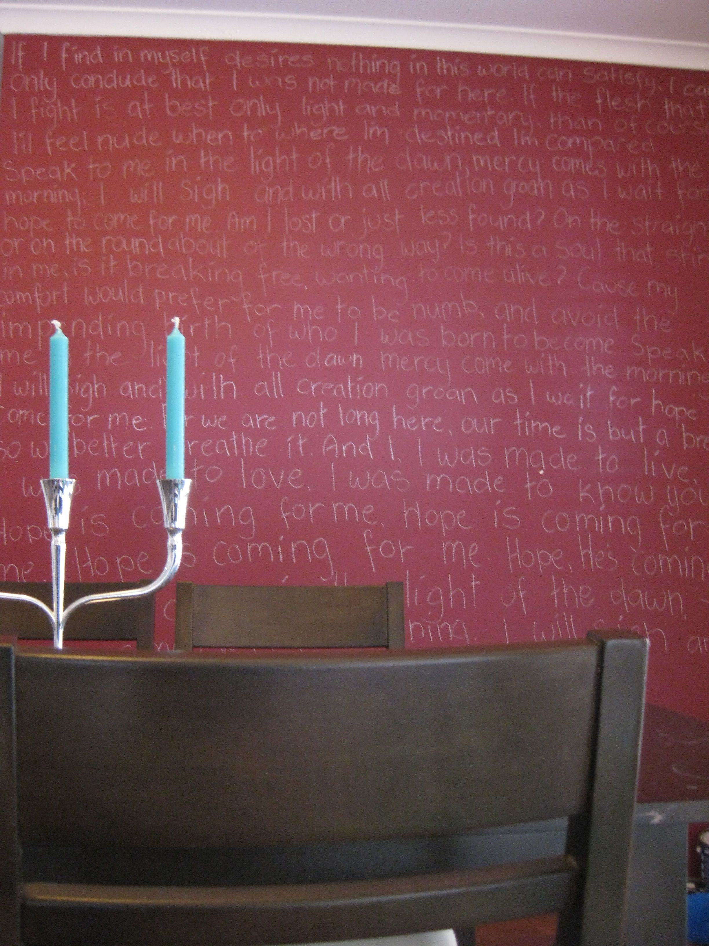 Deep red wall turquoise accent business interiors pinterest