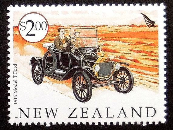 1915 Model T Ford Vintage Car New Zealand By Passiongiftstampart Model T Ford Vintage Cars
