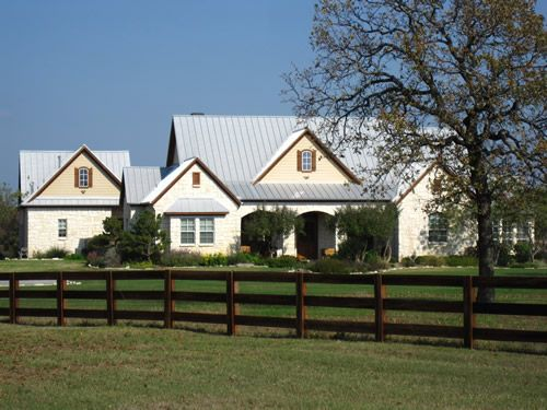 Peaceful Metal Roof Houses Hill Country Homes Classic House