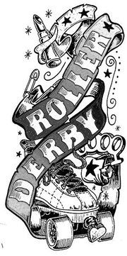 roller derby logo and inspiritation for an upcoming tattoo