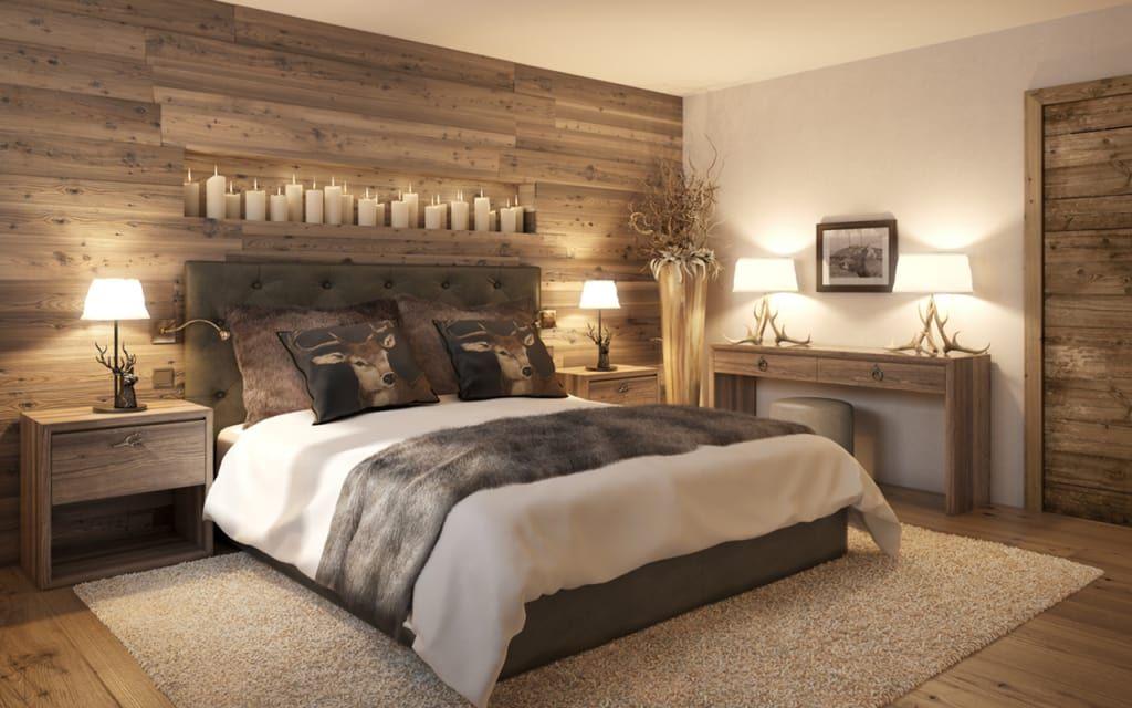 Hotel arlberg jagdhaus schlafzimmer von go interiors gmbh  Bedroom  Schlafzimmer