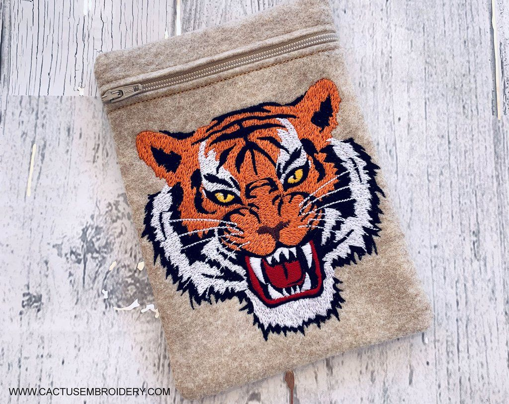 Tiger Machine Embroidery Design in 2020 Embroidery