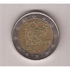 monnaie inestimable pi ce 2 euros tr s rares pr sidence fran aise union europ enne 2008 avec. Black Bedroom Furniture Sets. Home Design Ideas
