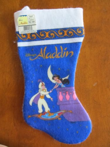 Vintage 1990s New Kurt Adler Disney World Aladdin Felt Christmas ...