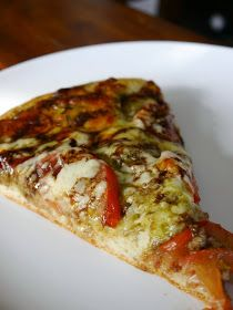 Recipes from the Pickle Boat: Pesto and Balsamic Glaze Pizza