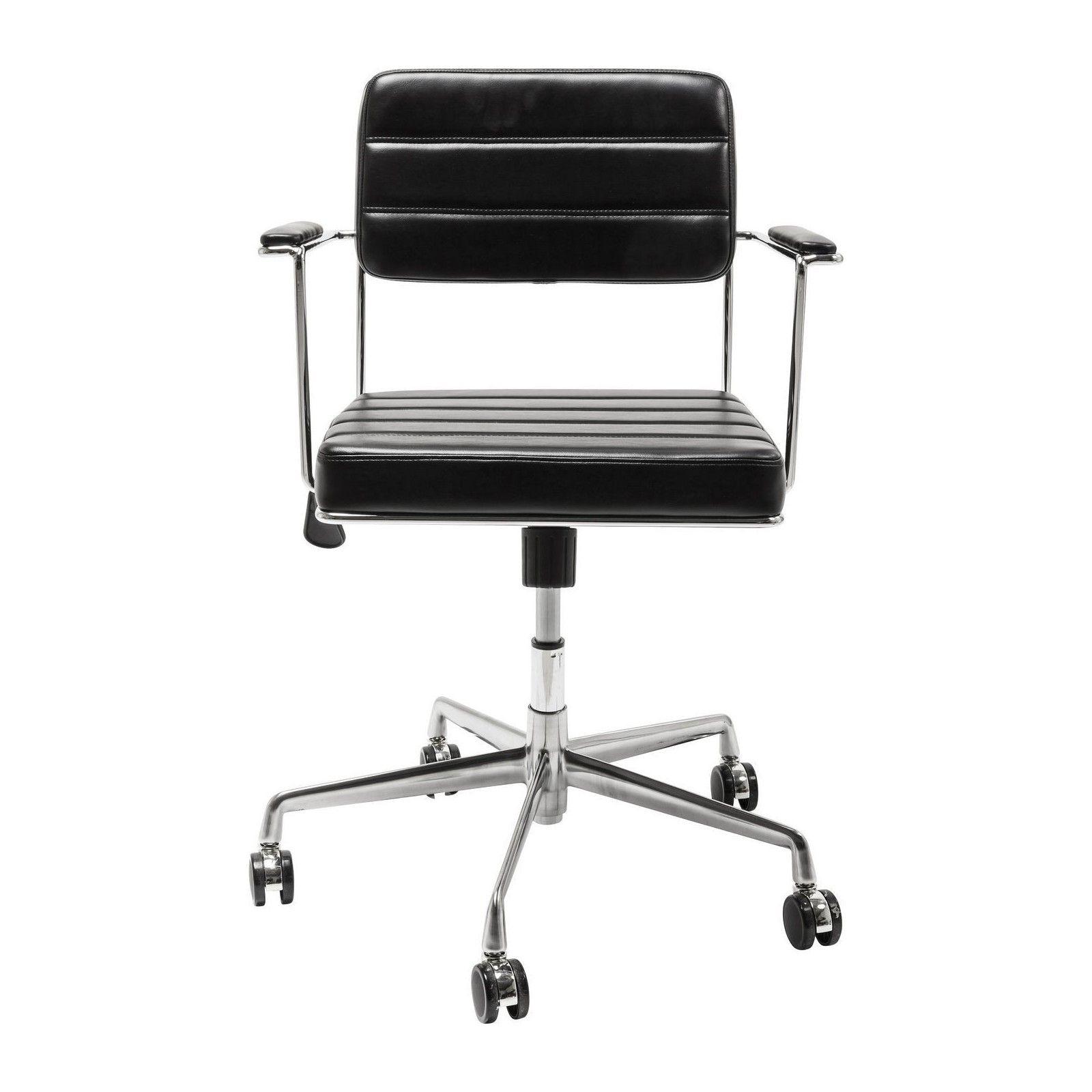 Chaise De Bureau Pivotante Dottore Noire Kare Design Chaise Bureau Fauteuil Bureau Design Bureau Retro