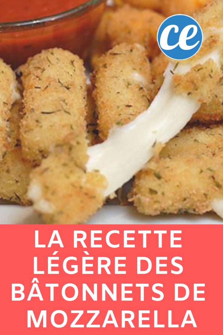 La Recette Légère des Bâtonnets de Mozzarella.