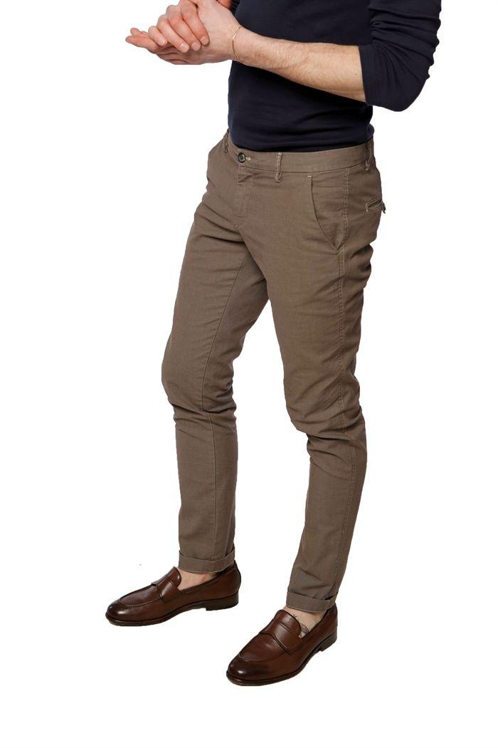 Pantalone Chino Mason's Uomo modello Milano in occhio di pernice - Masons