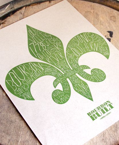 "Fleur de Louisville Print - $30  As much Louisville as you can fit in a 12""x16"" space."