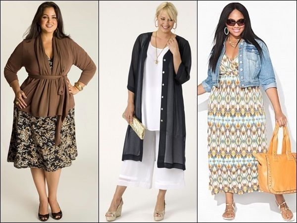 plus size fashion look with layers: opt for any type of layers