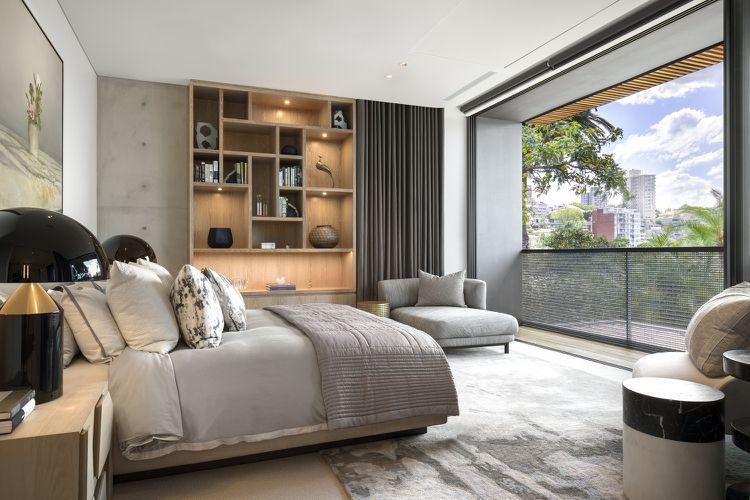 Polycarbonat Fassadenelemente Balkon Schlafzimmer Grau Holz #dream