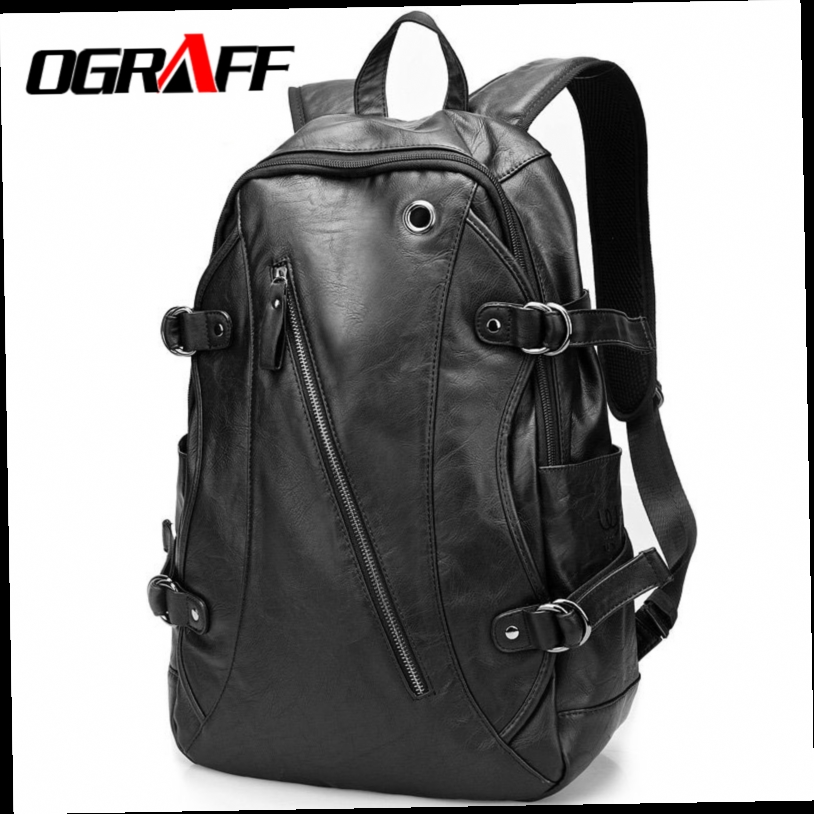... OGRAFF 2017 famous brands school bags for teenagers high quality  vintage backpack black luxury designer leather backpack bicycle 49.67  729316e3c2a0c