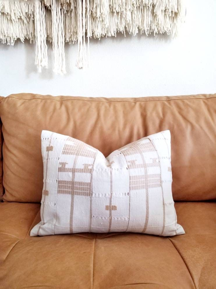 Mudcloth Pillow Cover 40x40 Aso Oke Pillow Cover Yoruba Pillow New 14x18 Pillow Insert
