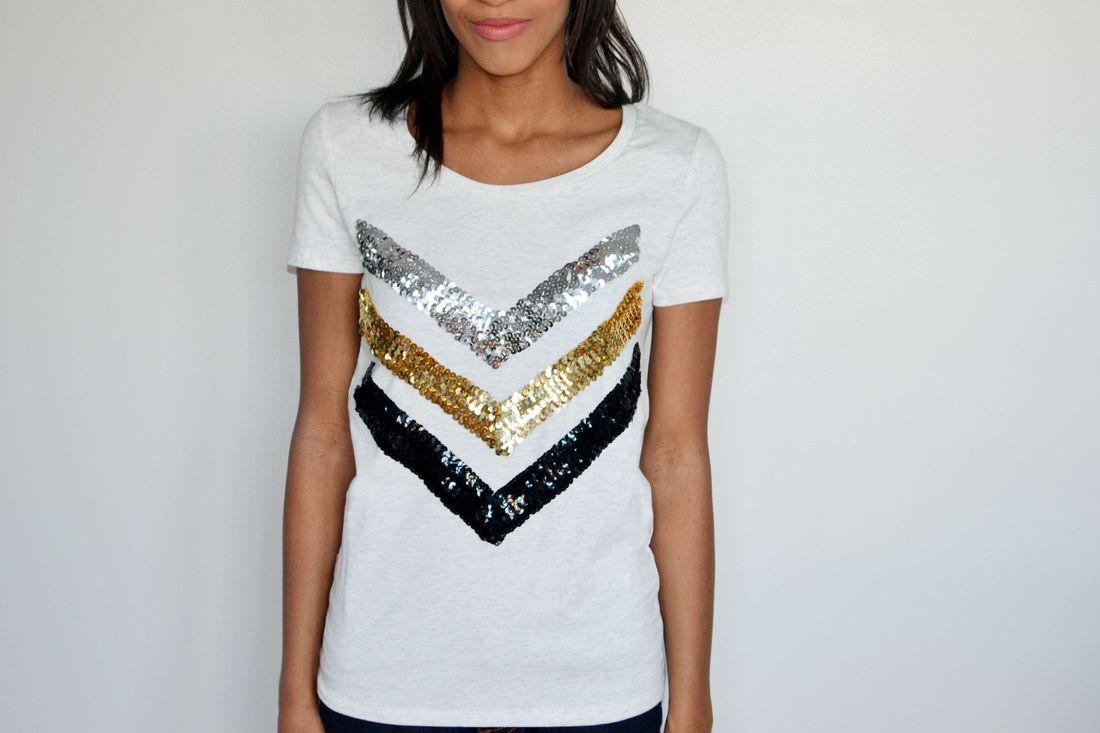Diy Sequin T Shirt And Sequin Sweatshirt By Spark