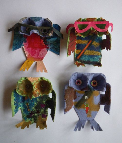 Egg Carton Owls - A simple recycling project that is fun for all ages!