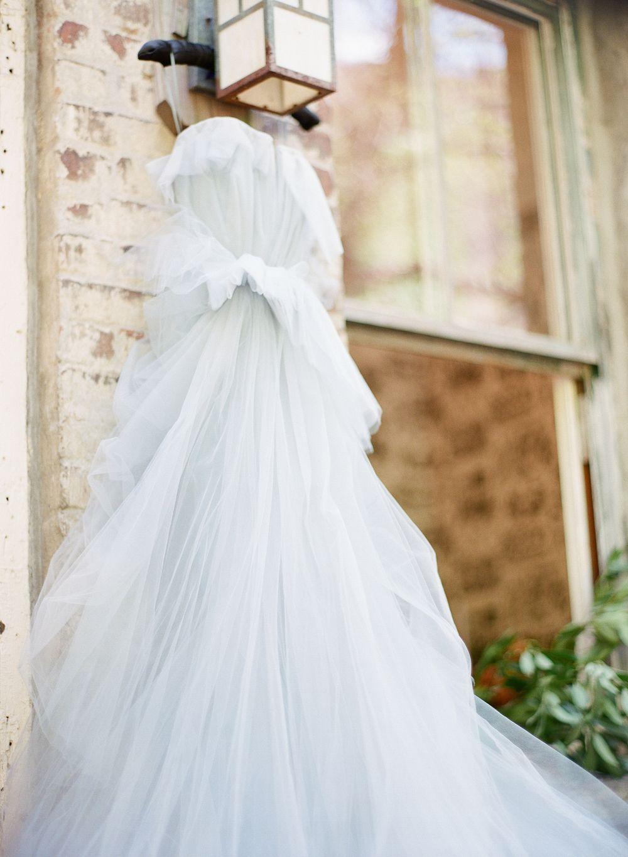 Something blue wedding blue tulle wedding dress ashley peraino