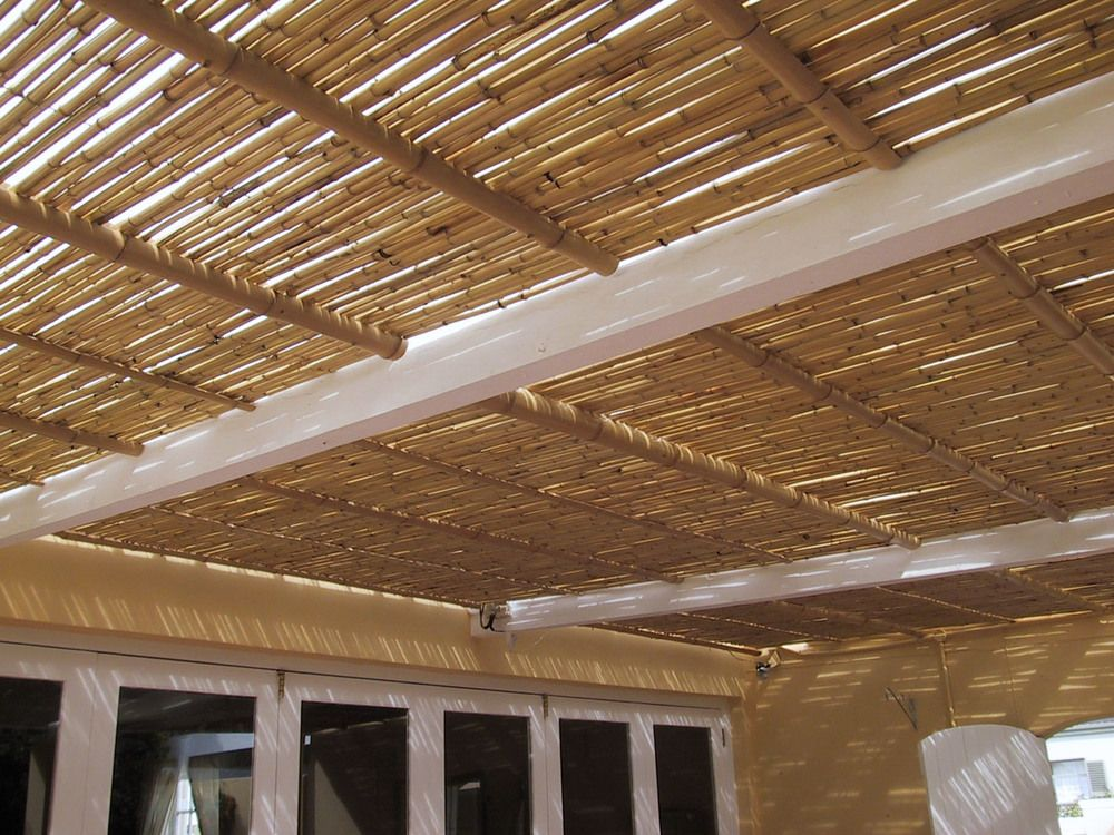 Natural Bamboo Under Clear Polycarbonate Ceiling Jpg Bamboo Ceiling Bamboo Roof Outdoor Pergola
