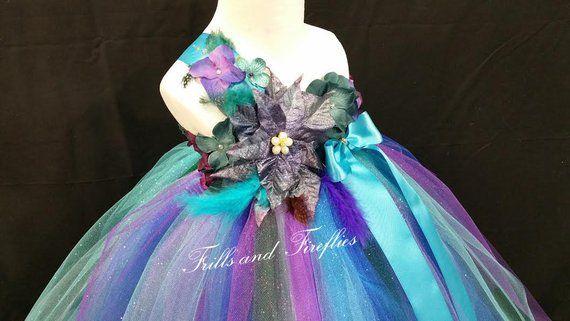 9d6220157 Peacock Fairy Flower Girl Dress / Flower Girl Dress / Princess Dress ...