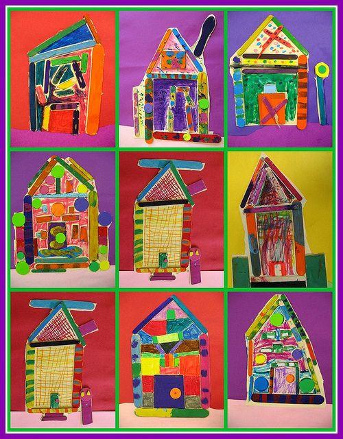 2nd grade Heidelberg Houses | Art for kids, Art lessons ...
