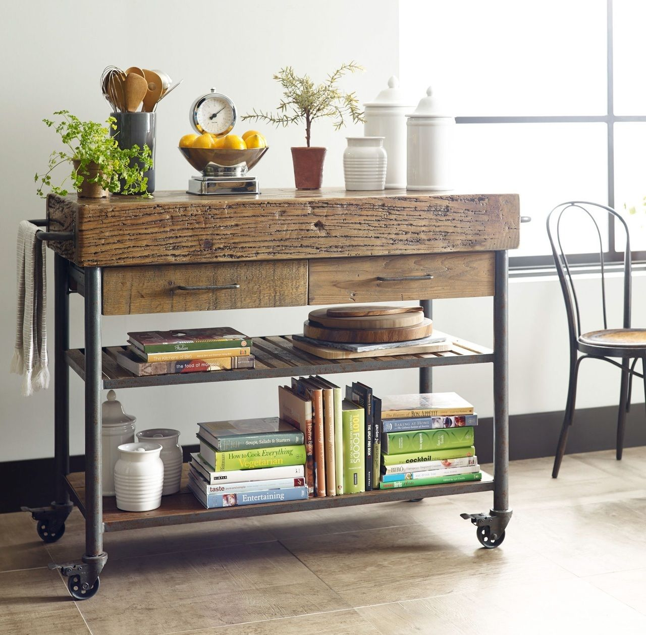 Industrial Reclaimed Wood Kitchen Island Cart Portable Kitchen Island Reclaimed Wood Kitchen Reclaimed Wood Kitchen Island