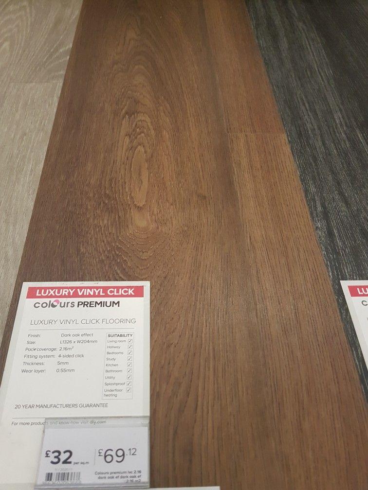 dark oak effect luxury vinyl click flooring from b q snug fittings