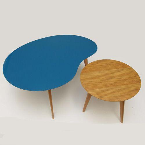 table basse ronde design style r tro lalinde sentou 219 table basse pinterest sentou. Black Bedroom Furniture Sets. Home Design Ideas