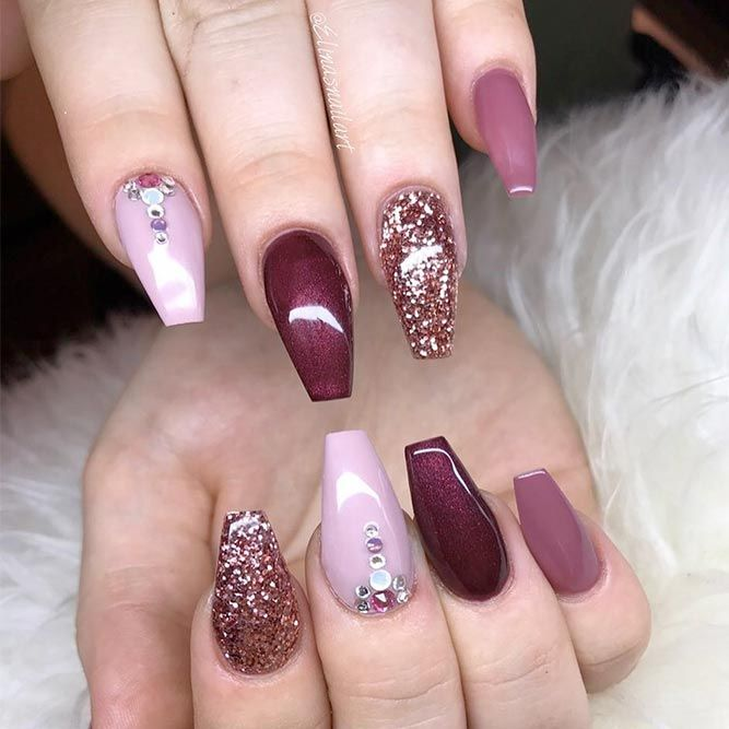 21 Cool Coffin Shape Nails Designs To Copy In 2018 | Nail Nail Coffin Nails And Pedi