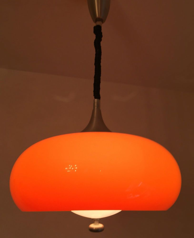 details zu lampe leuchte kugellampe space age kunststoff design vintage 60er 60s 70er 70s. Black Bedroom Furniture Sets. Home Design Ideas