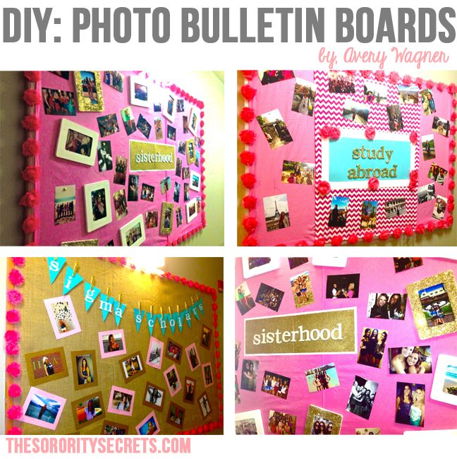 Photo Bulletin Boards DIY AXiD Sisterhood Activities