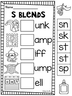 S Blends Worksheets And Activities No Prep Pack With Images