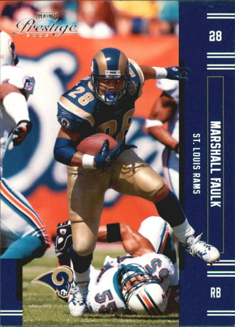 2005 Playoff Prestige Football Card 129 Marshall Faulk