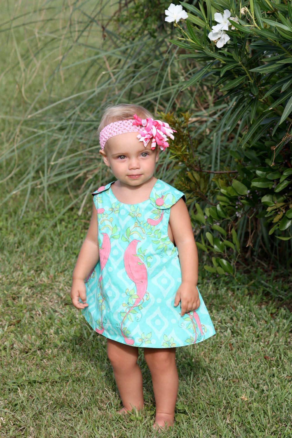 Green dress baby images  Baby Girl Pinafore Dress with bloomers  Sewing  Pinterest  Girls