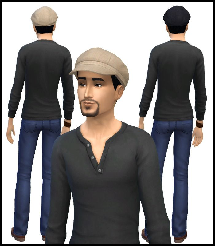 Puffy Cap Gender Conversion | Simista A little Sims 4 Site