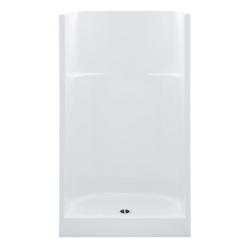 Aquatic Everyday Afr 42 In X 34 In X 75 In 1 Piece Shower Stall With Center Drain In White 1423cm Whhd Shower Stall Kits Shower Jack Jill Bathroom